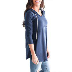 Women's Pullover Long Sleeve Hoodies Coat Loose Casual French Terry Tunic Sweats -
