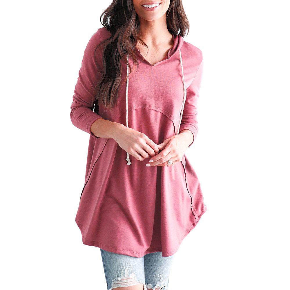 Buy Women's Pullover Long Sleeve Hoodies Coat Loose Casual French Terry Tunic Sweats
