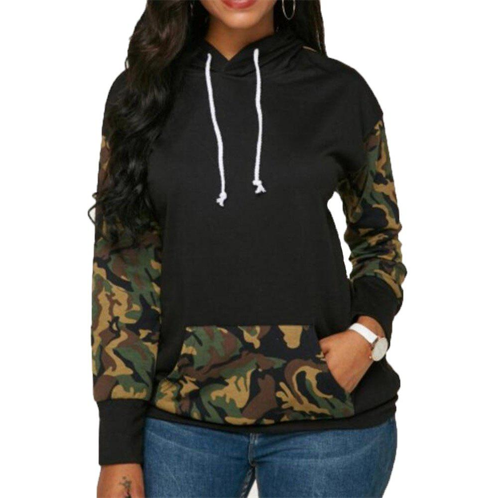 Outfit Women's Loose Camouflage Long Sleeve Hoodie