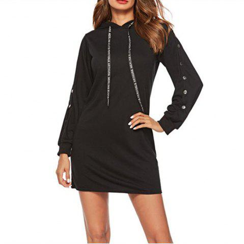 Women's Loose Long Sleeve Hoodie Dress
