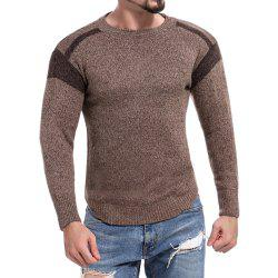 Men's Casual Colorblock Round Neck Long Sleeve Sweater -
