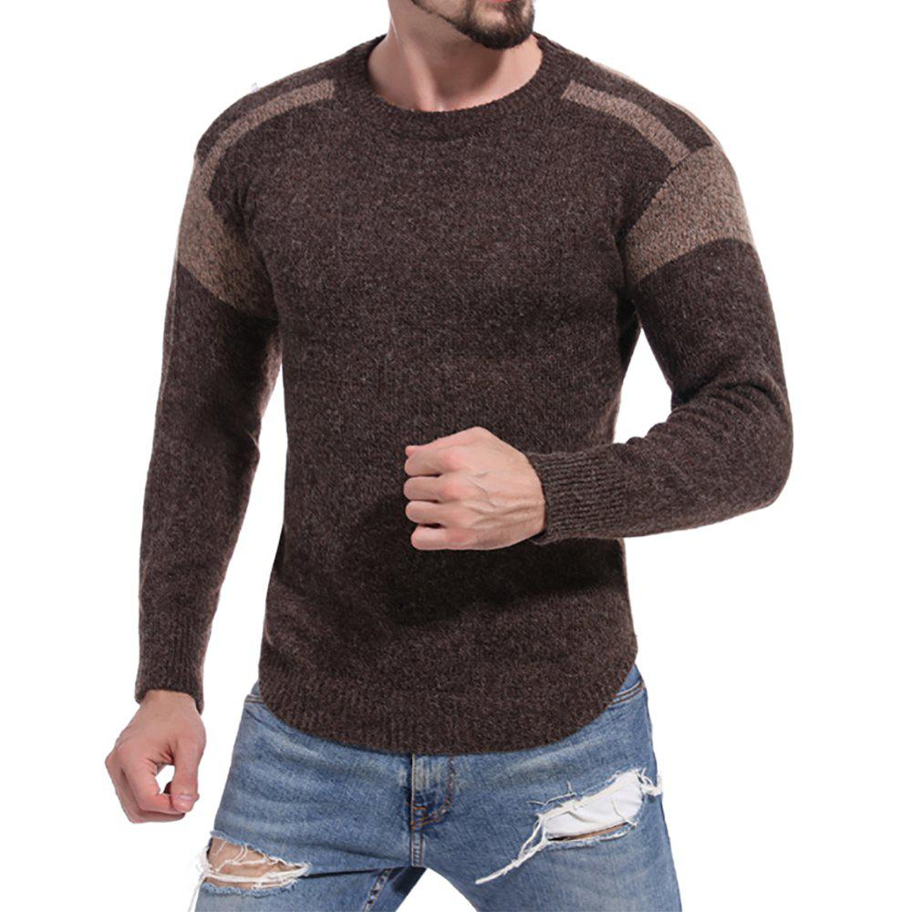 Affordable Men's Casual Colorblock Round Neck Long Sleeve Sweater