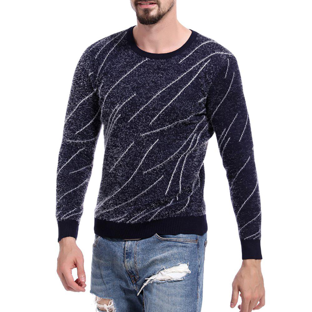 c6802faed Online Men s Casual Colorblock Stripe Contrast Sweater