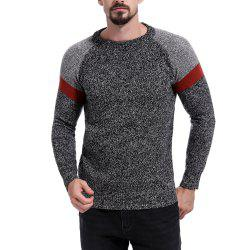Men's Colorblock Stitching Round Neck Long Sleeve Sweater -
