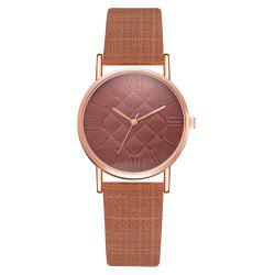 XR2807 Fashion Trend Roman Numeral Quartz Watch Square Mirror Women'S Watch -
