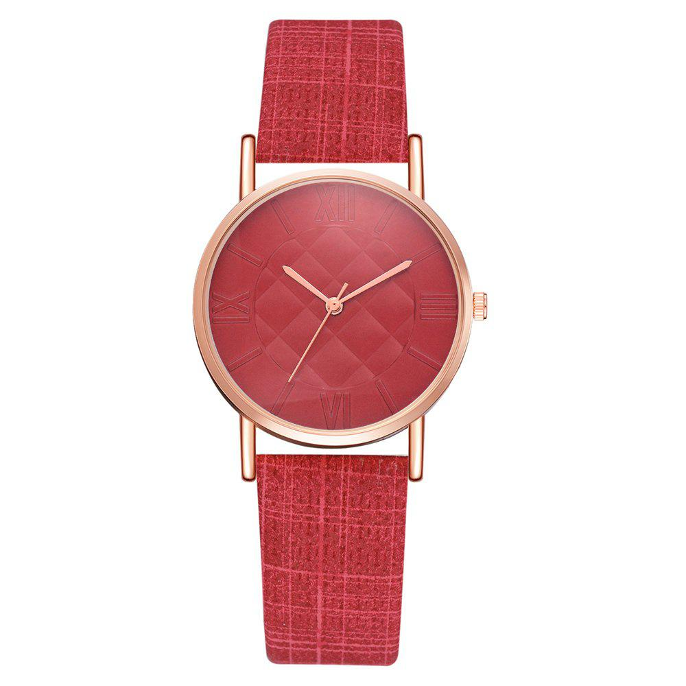 Fancy XR2807 Fashion Trend Roman Numeral Quartz Watch Square Mirror Women'S Watch