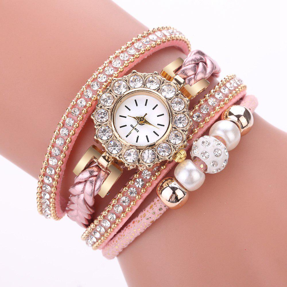Outfits Xr2742 Pearl Circle Bracelet Watch Ladies Fashion Watch Bracelet Watch