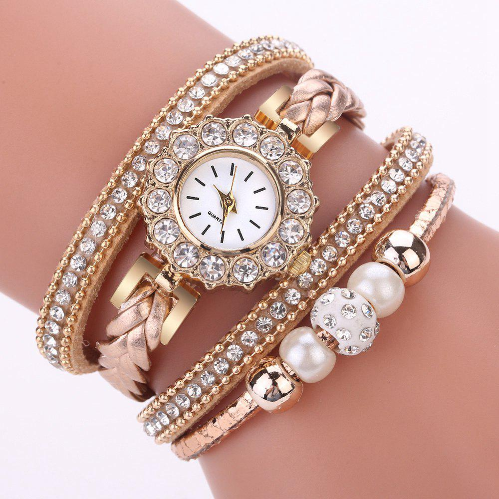 Trendy Xr2742 Pearl Circle Bracelet Watch Ladies Fashion Watch Bracelet Watch