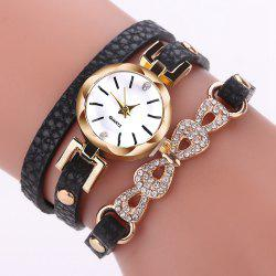 XR2744 Round Jewelry Bracelet Female Personality Leather Bracelet Watch Watch -
