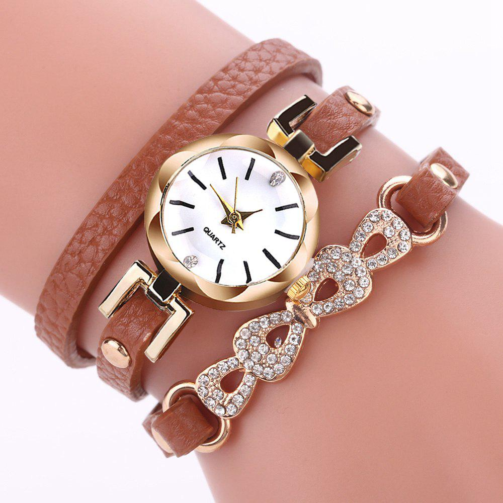 Hot XR2744 Round Jewelry Bracelet Female Personality Leather Bracelet Watch Watch
