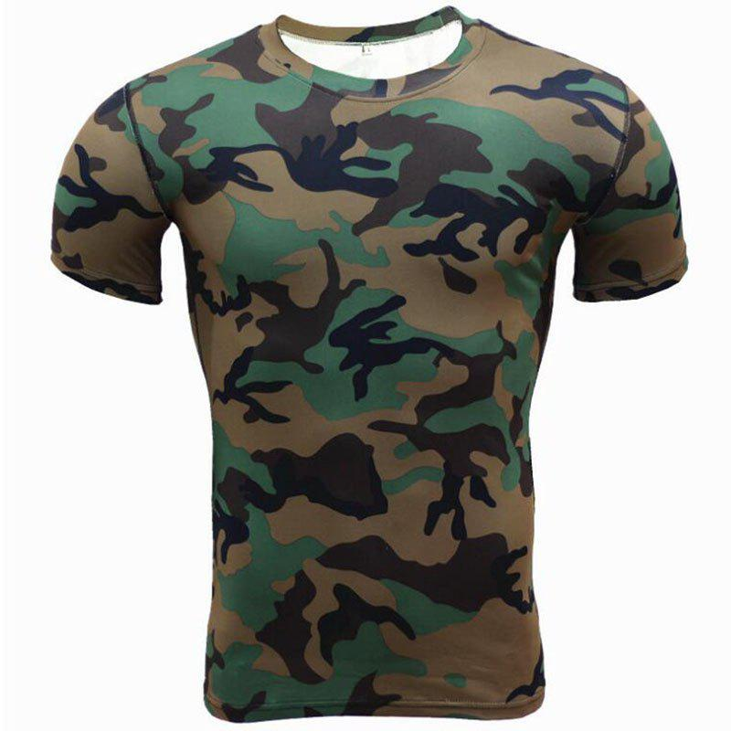 Outfit Men's Plus Size Sports Active Slim Tank Top Camouflage Print  Sleeveless