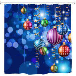 Colorful Blue Christmas Ball Digital Printing Fabric Waterproof and Mildewproof -