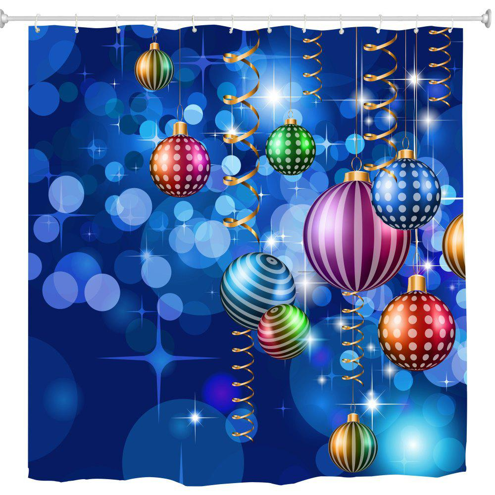 Outfit Colorful Blue Christmas Ball Digital Printing Fabric Waterproof and Mildewproof