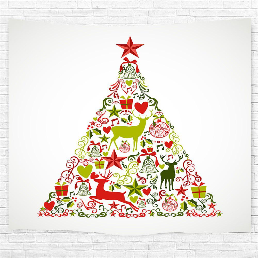 Red Star Christmas Tree Printing Home Wall Hanging Tapestry For Decoration