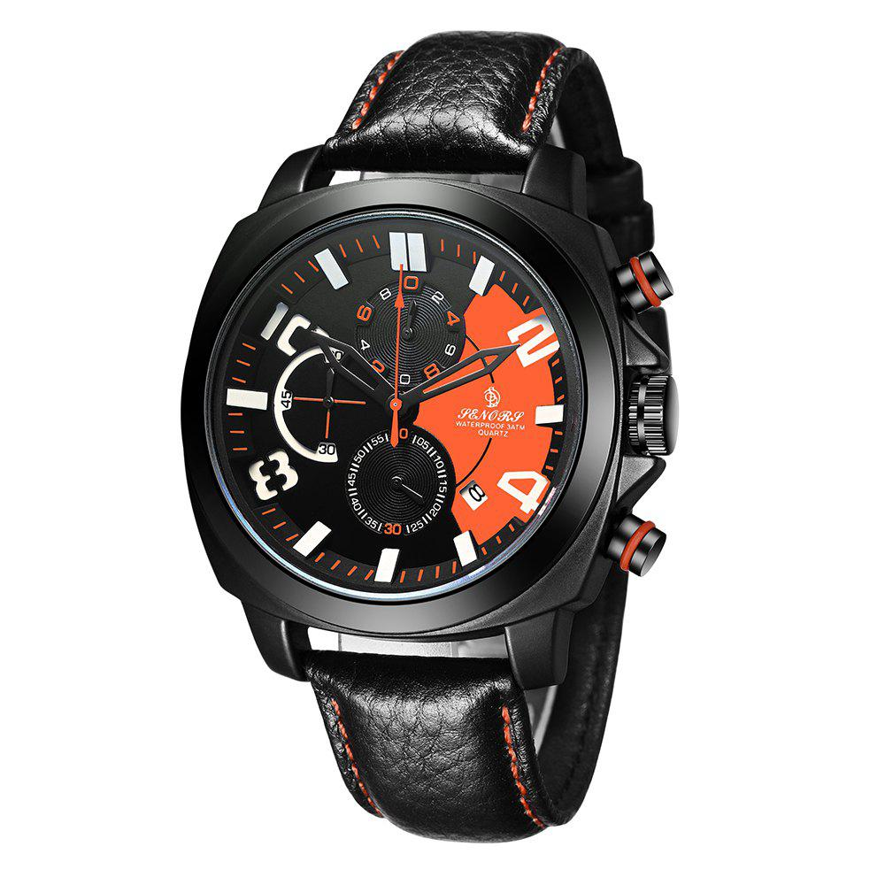 Best Senors Multifunction Men's Calendar Casual Big Watch