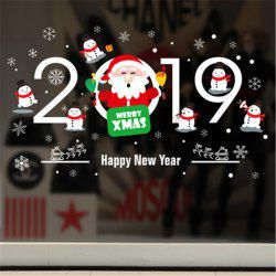 Christmas Stickers For Window PVC Removable Christmas Decorations -