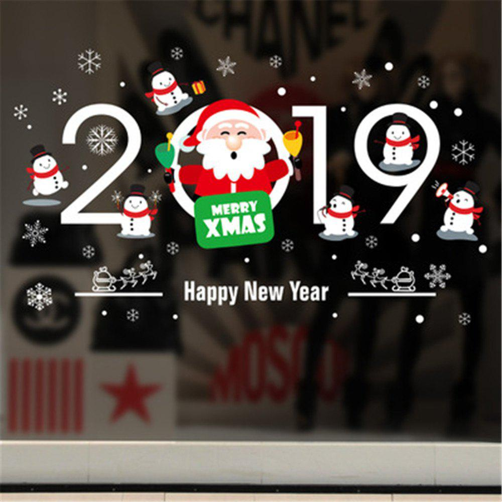 Affordable Christmas Stickers For Window PVC Removable Christmas Decorations