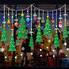 Cartoon Green Christmas Tree Hanging Ball Snowflake Glass Window Sticker Removab -