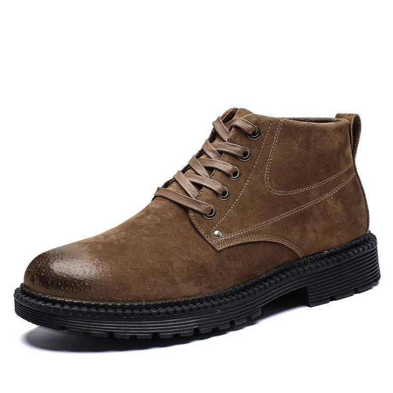 Affordable Men High-Top Leather Wear-Resistant Trend Casual Shoes Tooling Boots