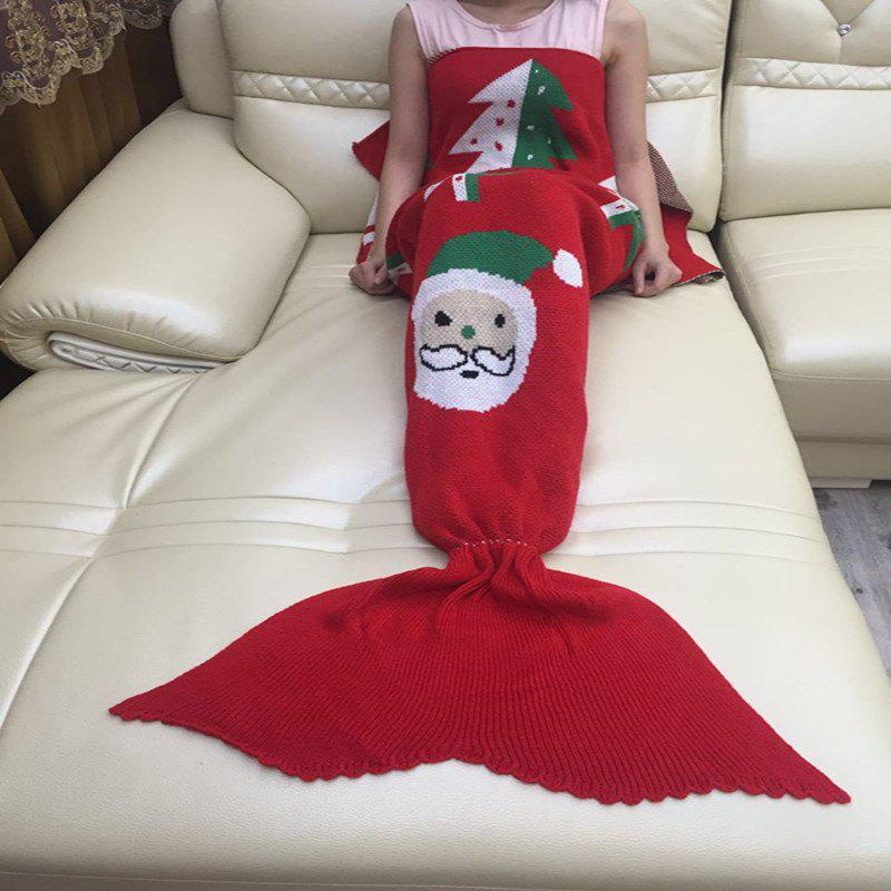 Fancy Christmas Wool Knitted Fish Tail Blanket Sofa