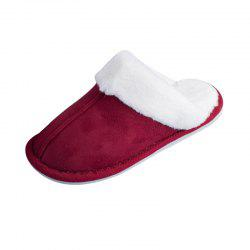 Home Story Suede Plush Warm Cotton Slippers -