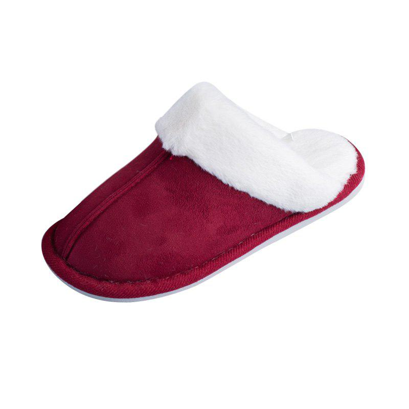 Hot Home Story Suede Plush Warm Cotton Slippers