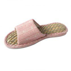 Home Story Malan Grass Home Straw Slippers -