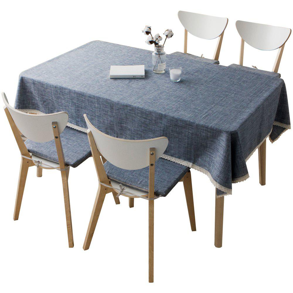 Fashion Manyin Series Cotton and Linen Style Bluish Grey Tablecloth from Jinsehuanian