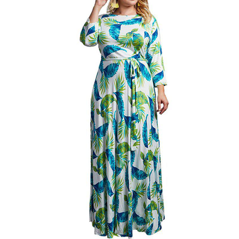 Outfit Plus Size Floral Maxi Dress Chiffon Floor Long Dress Women Loose Dress