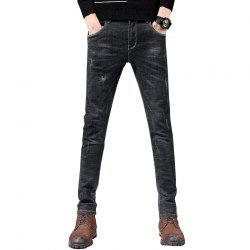 Men'S Fashion Casual Trend Slim Straight Pants -