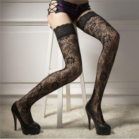 c66cc5696 Women Punk Rivets Lace Thigh High Stockings Fishnet Hold Up Hosiery Socks  Black