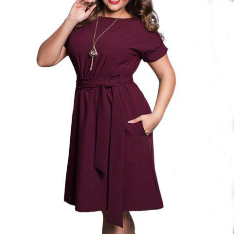 Plus Size Women Clothing Summer Style Neck Bodycon Chiffon Dress