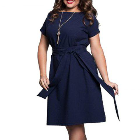 c573ff293d60 Plus Size Women Clothing Summer Style O-Neck Bodycon Chiffon Dress Elegant  Casua