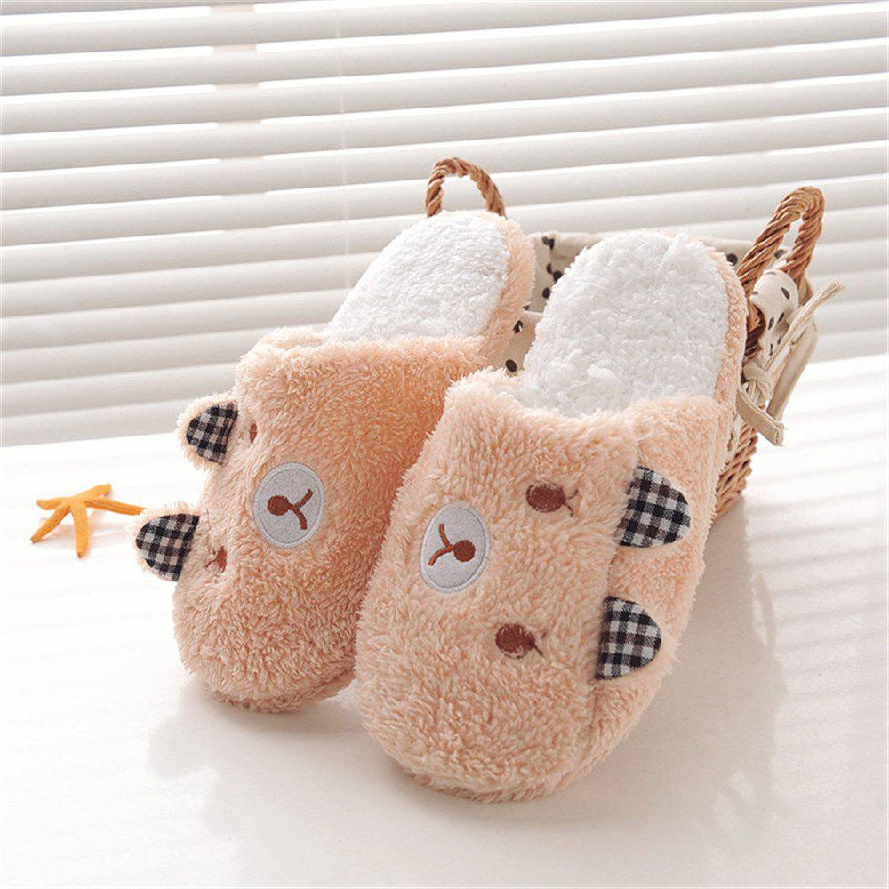 Chic New Winter Lover Cartoon Pig Keep Warm Plush Cotton Home Indoor Lovely Slipper