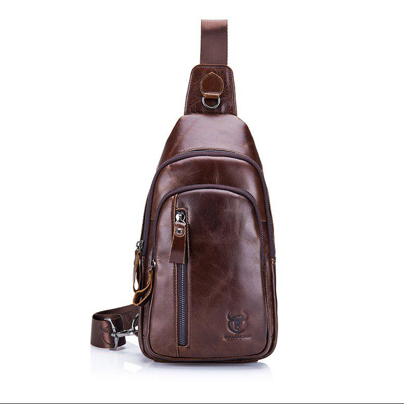 1ca0c129aa1c Fashion Men Genuine Leather Crossbody Small Shoulder Casual Chest Messenger  Bag - Coffee