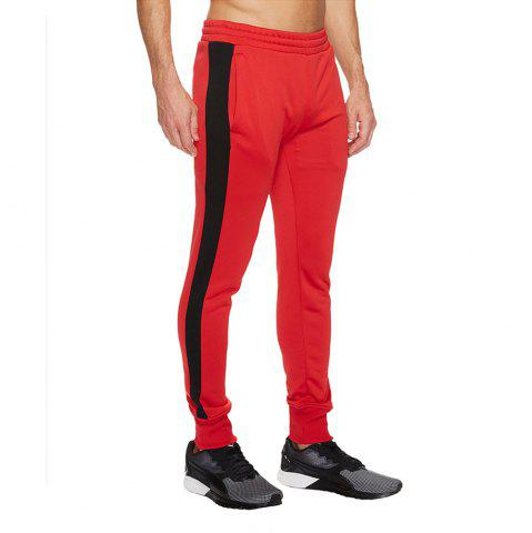 54946074 High elasticity Pants Men Fitness Running Workout Sweatpants Striped Gym  Sport