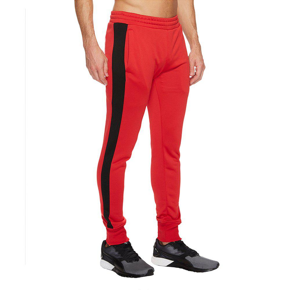 Sale High elasticity  Pants Men Fitness Running Workout Sweatpants Striped Gym Sport