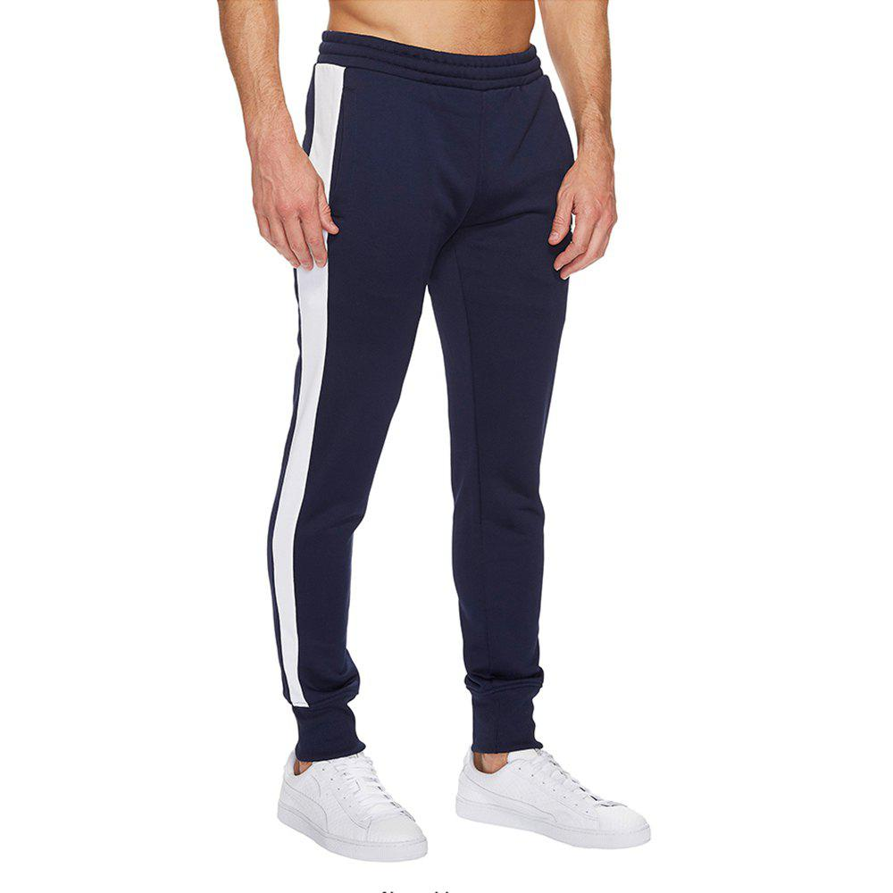 Affordable High elasticity  Pants Men Fitness Running Workout Sweatpants Striped Gym Sport