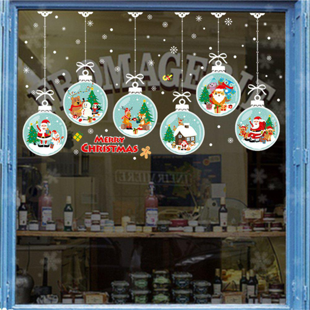 Christmas Window.Christmas Window Wall Sticker Mural Home Decor Wall Stickers Decal For Bed Room