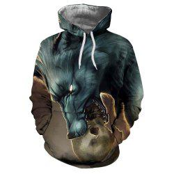 European and American Trend 3D Printing Dragon Hooded Hoodie -