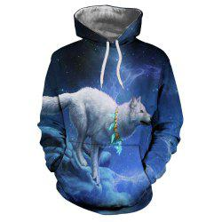 Men'S New Animal White Fox Figure 3D Print Hoodie -