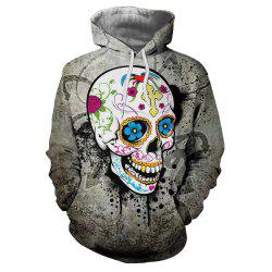 Fashion New Hot Men'S Clothing Flower Hooded Hoodie -