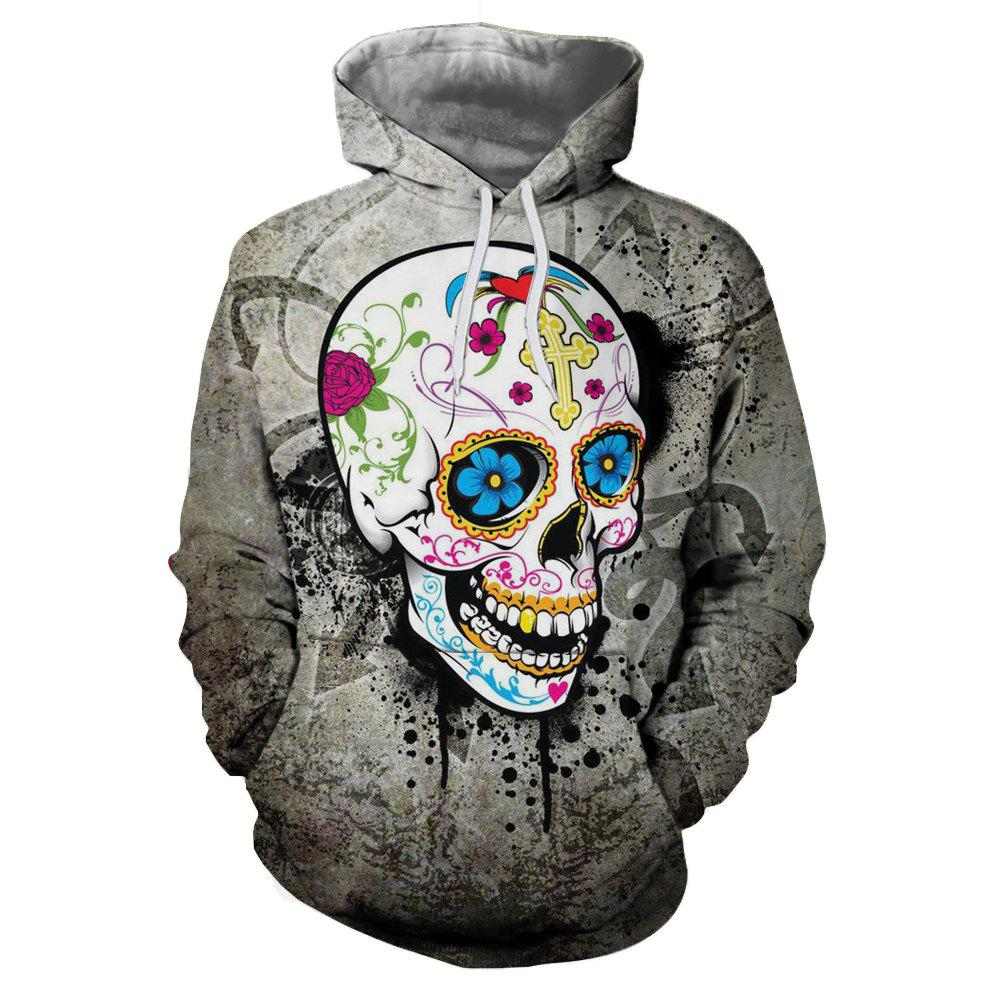 Shop Fashion New Hot Men'S Clothing Flower Hooded Hoodie