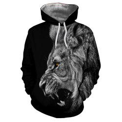 New Fashion Hot Men'S 3D Printed Tiger Hoodie -