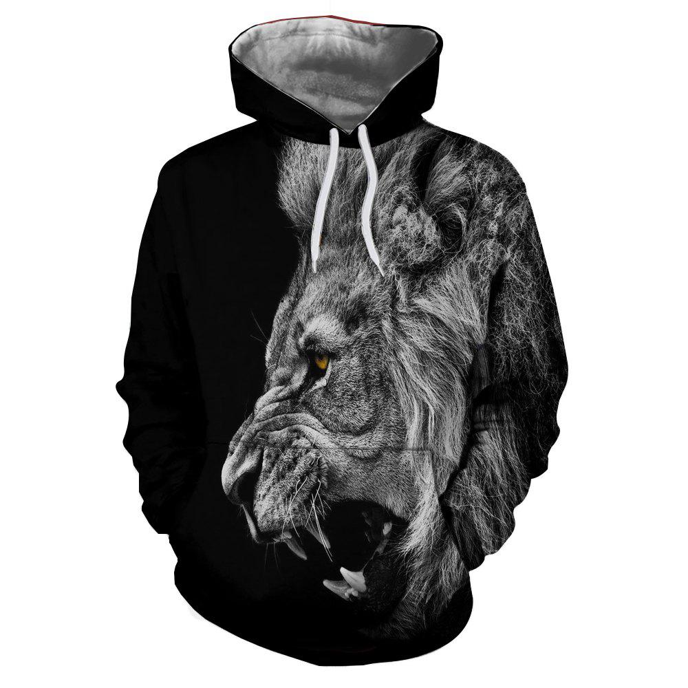 Fashion New Fashion Hot Men'S 3D Printed Tiger Hoodie