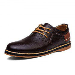 Men Leather Flat Bottom Strap Business Formal Casual Shoes -