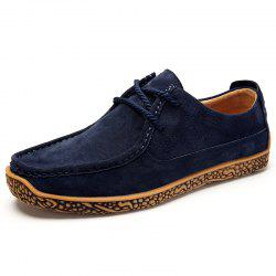 Men Flat Bottom Casual Breathable Trend Driving Peas Snails Shoes -