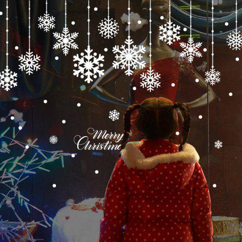 Christmas Snowflake PVC Waterproof Wall Sticker