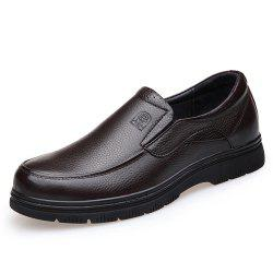 Dad Shoes Autumn Single Male Shoes Leather Shoes Leather Middle-Aged Breathable -