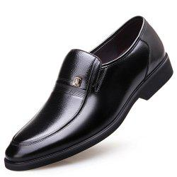 Middle-Aged British Business Suits Autumn Hidden Heel Shoes -